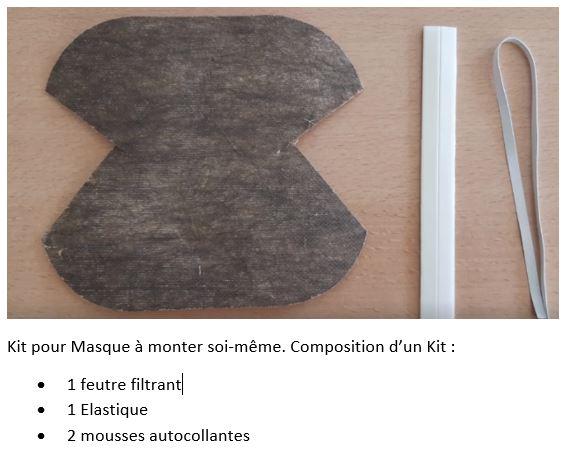Kit de montage Masque Biocompostable