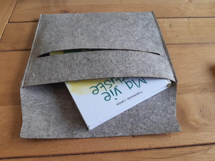 Pochette - Porte document - cadeau 100% végétale